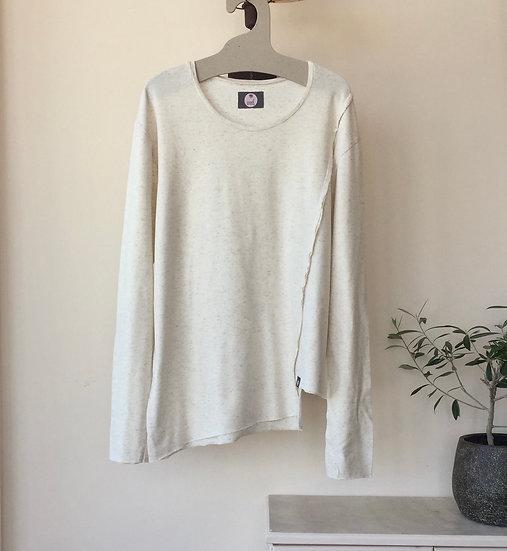 Cotton linen asymmetrical blouse