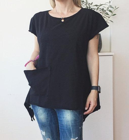 Pocket asymmetrical t-shirt