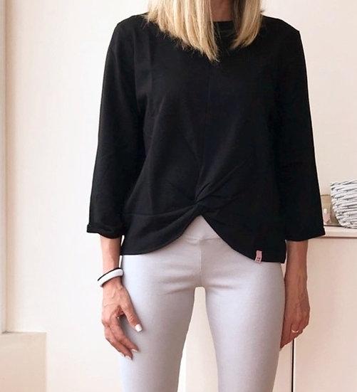Μπλούζα με τρουακάρ μανίκι και μπροστινό κόμπο