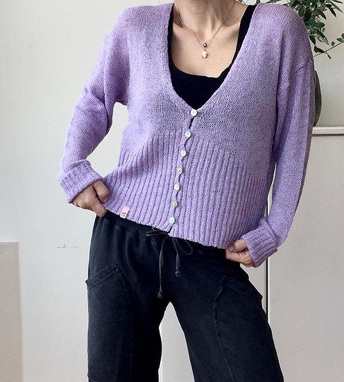 Knit crop cardigan