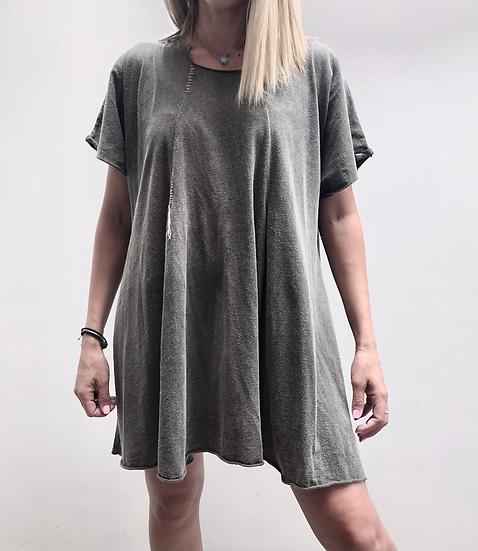 Cotton blouse-dress
