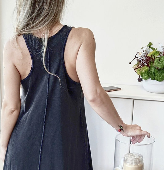 Sleeveless blouse-dress