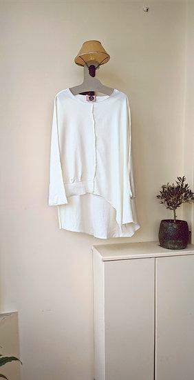 Ασύμμετρη μπλούζα loose fit