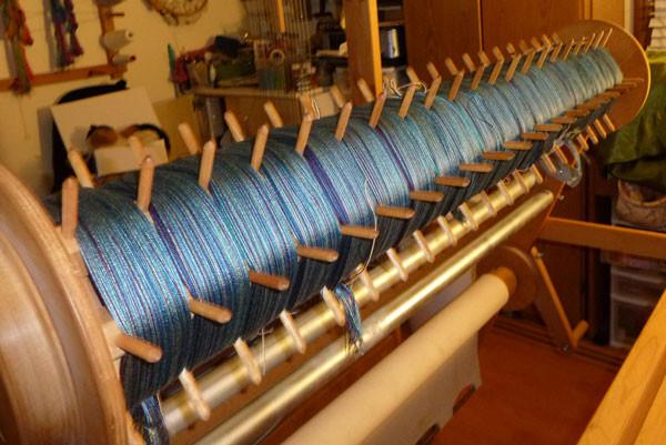 Warp on the loom