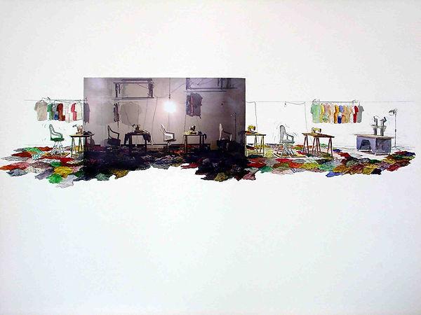 Malachi Farrell Drawings Pompidou Sketch