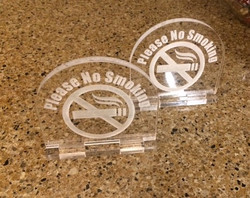 No Smoking acrylic sign