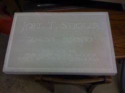 J Stighler stone