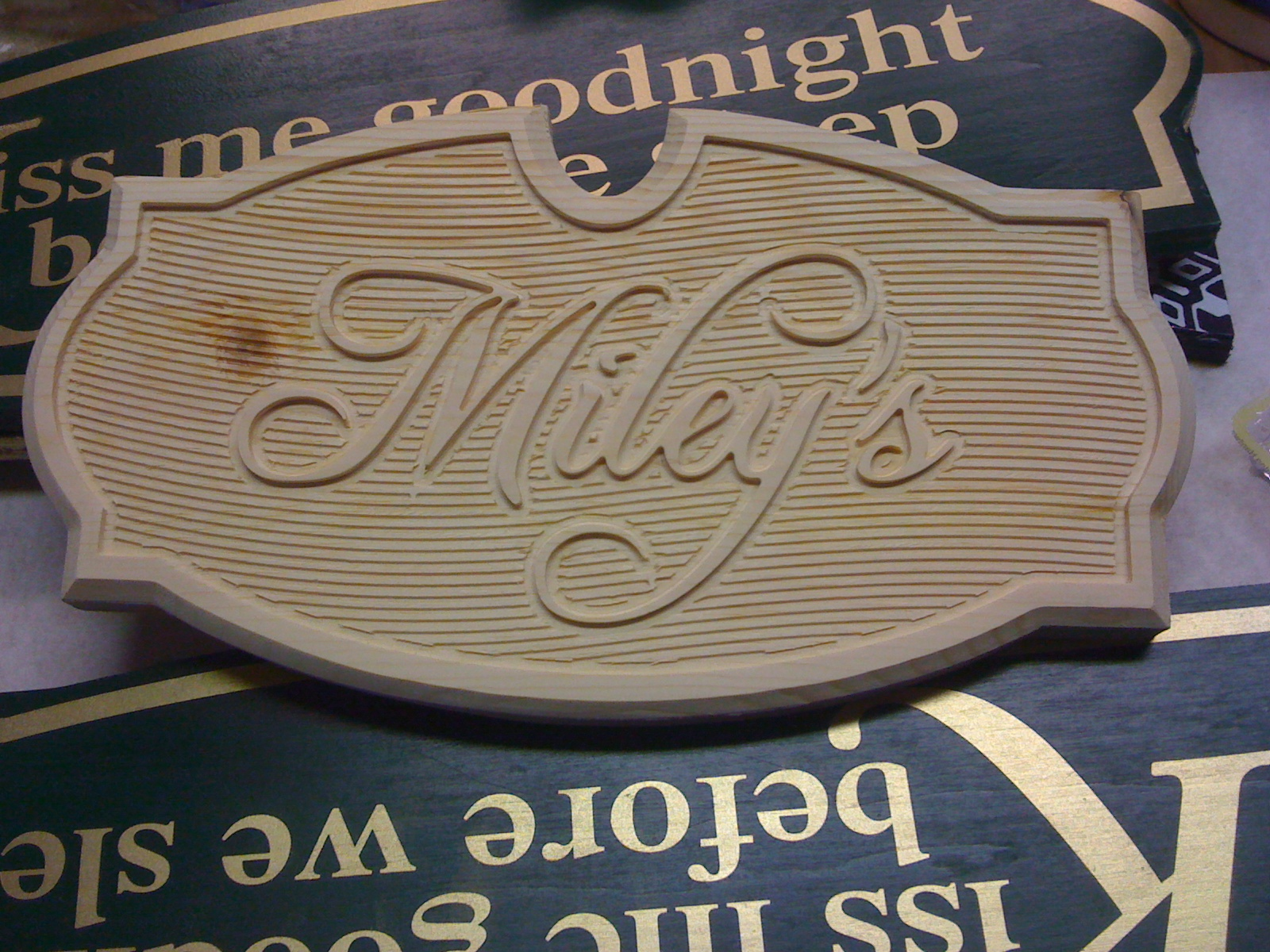 Miley House sign