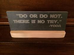 Yoda Quote slate