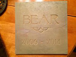 Bear slate sign