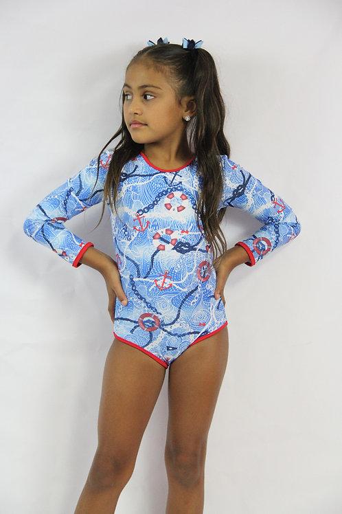 1 PC Marine Long Sleeve Swimwear