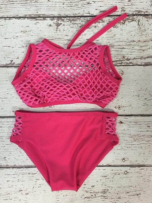 2 PC Pink Mesh Bikini
