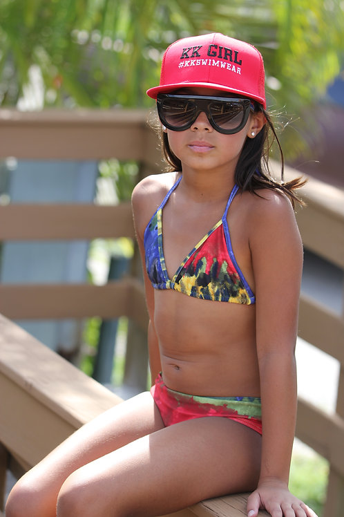 KK Girl Bikini Separates Tie Dye Bikini Bottom