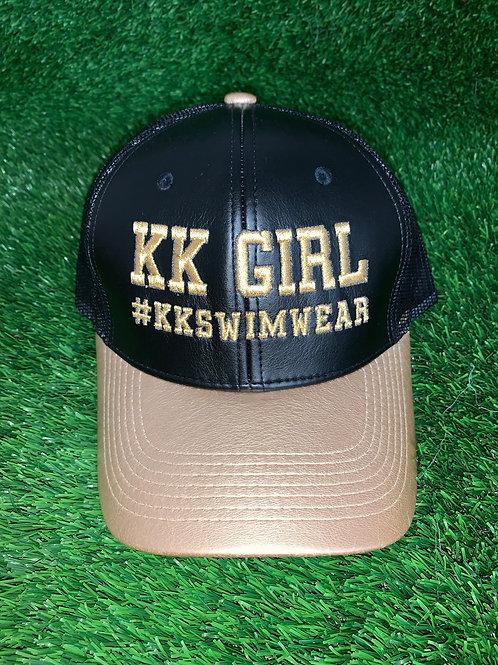 Kk Girl Black Leather Hat