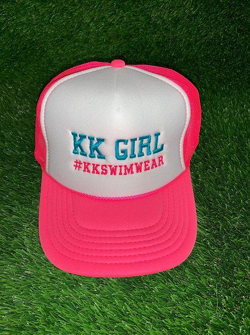 Kk Girl Pink/Teal Letters Hat