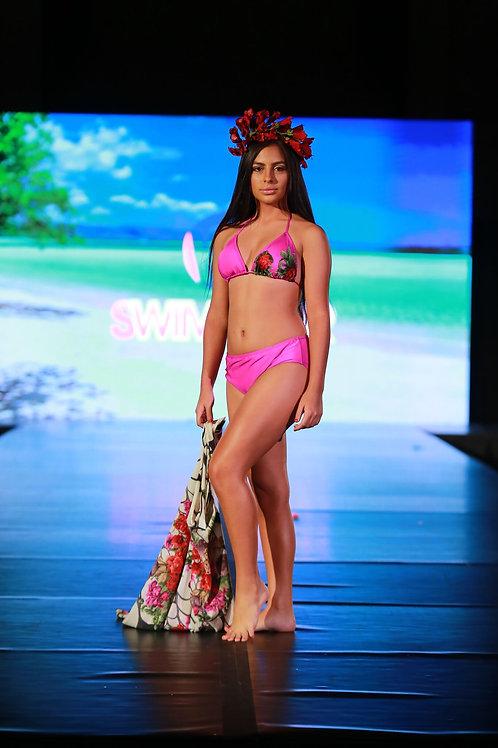 3PC Triange Bikini w/ Cover Up