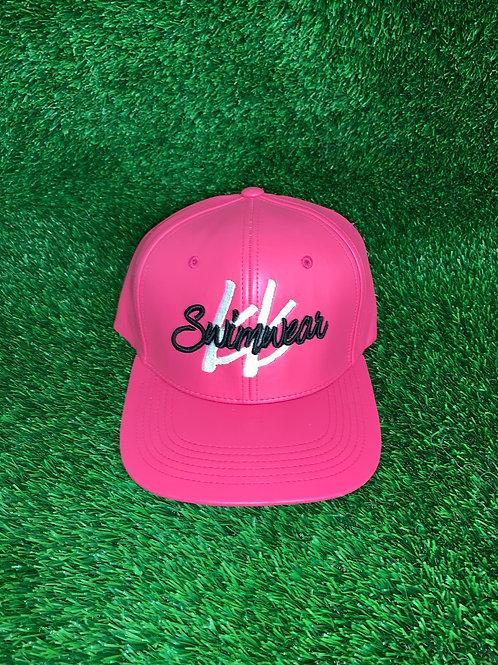 Kk Swimwear Pink Leather Hat