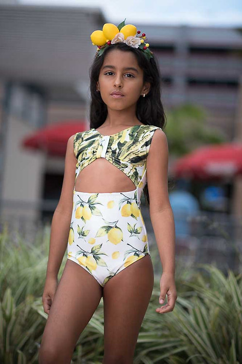 1 PC Lemon & Leafs Tankini