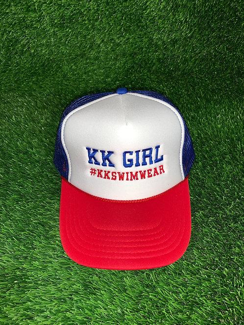 Kk Girl Hat Red|White|Blue