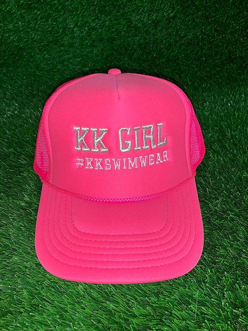Kk Girl Hat Pink/Silver