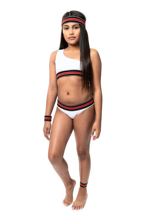 One Shoulder Elastic Bikini