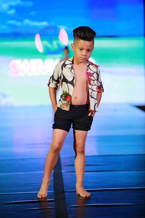 2PC Boy Short w/ Cover Up