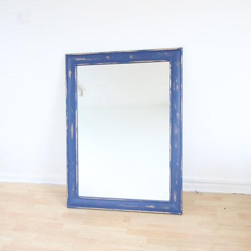 Rustic Blue Square Mirror