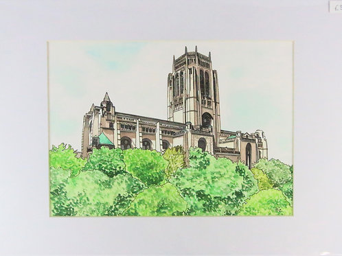 Liverpool Anglican Catherdral A4 print
