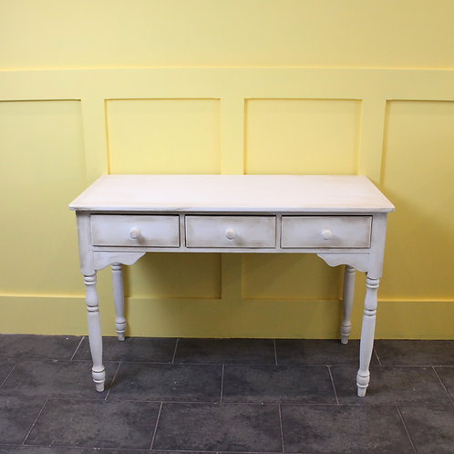 Aged White Console Table