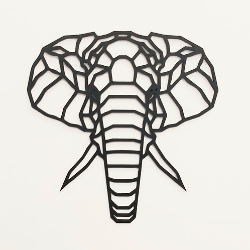 Elephant polygon wall art