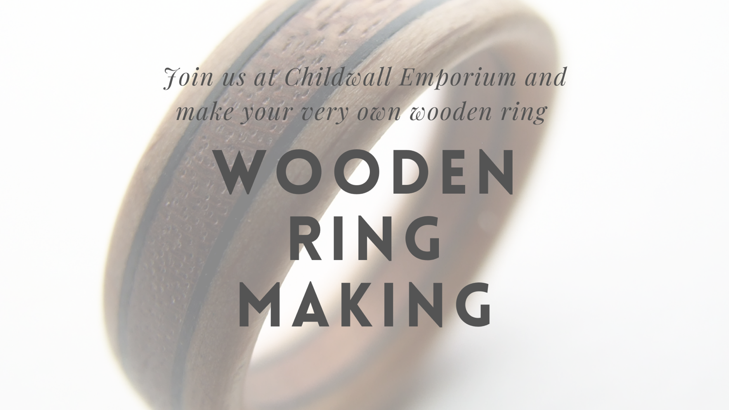 One to One Wooden ring making