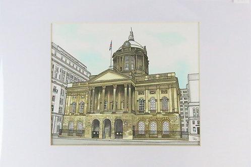 Liverpool Town Hall A4 print