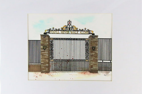 Shankly Gates A4 print