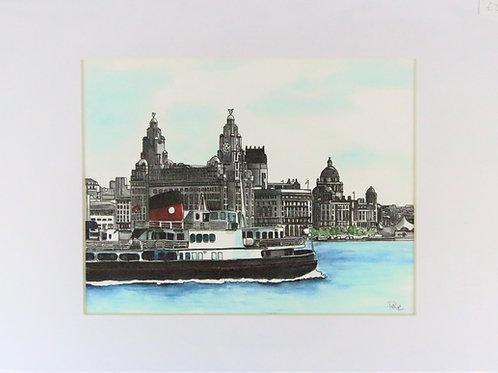 Ferry across the mersey artwork