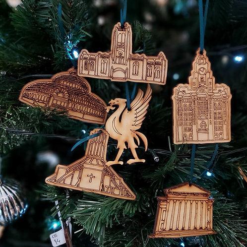 Liverpool Landmark Christmas Decorations