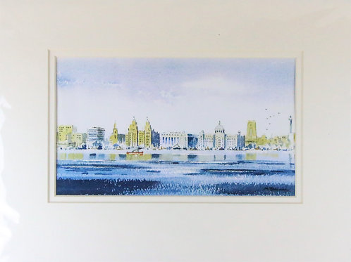 Liverpool Waterfront watercolour