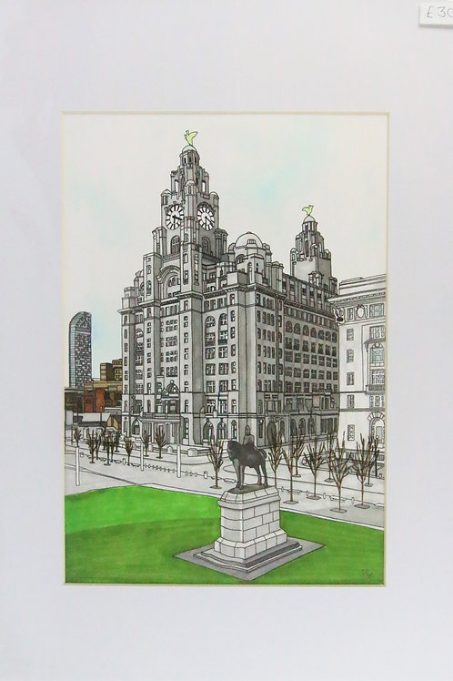 Royal liver building artwork