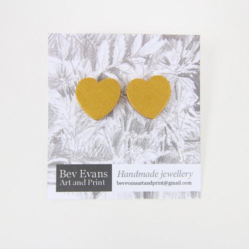 Be Wooden heart earrings
