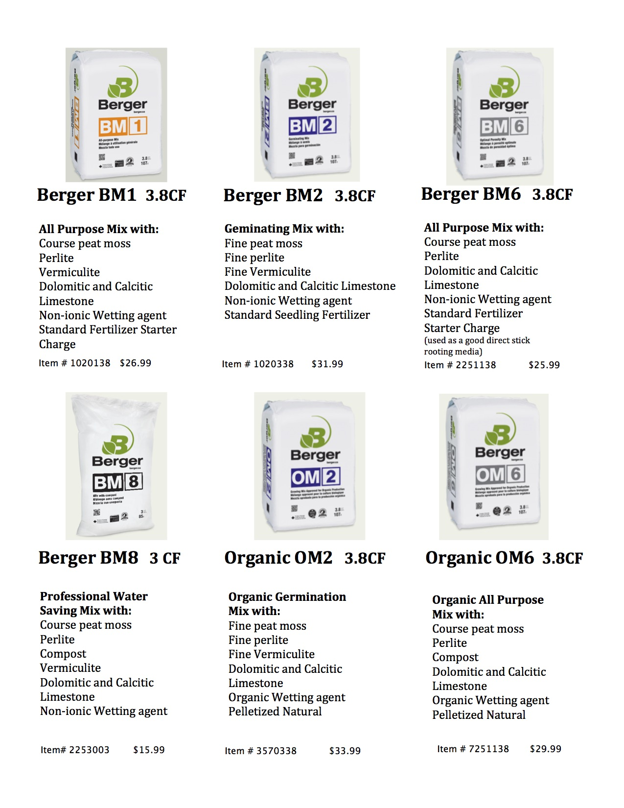 New Berger Soil Mixes