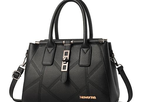 NEVENKA Top-Handle Shoulder Bags Fashion Woman Handbag High Larg PU Leather