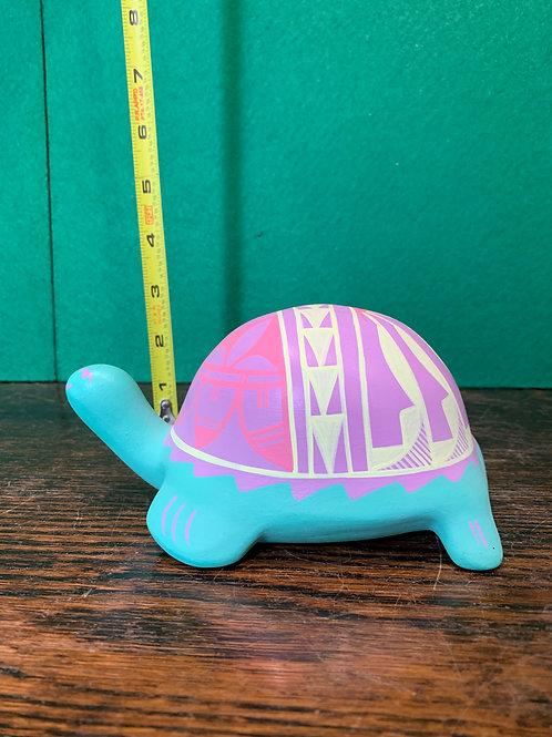 Pastel Jemez Pueblo Artwork Turtle