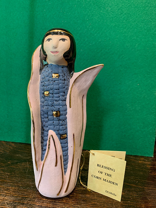 Glazed Corn Maiden with Gold Accent