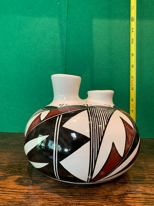 Glazed Old Laguna Pueblo Engagement Vase