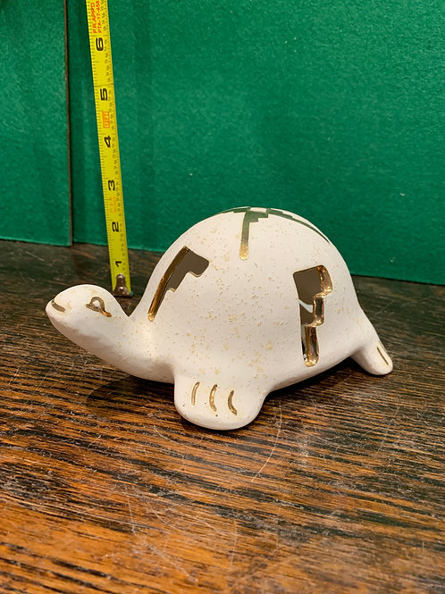 Gold Cut Out Turtle