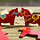 Thumbnail: Wooden Red Horse Ornament