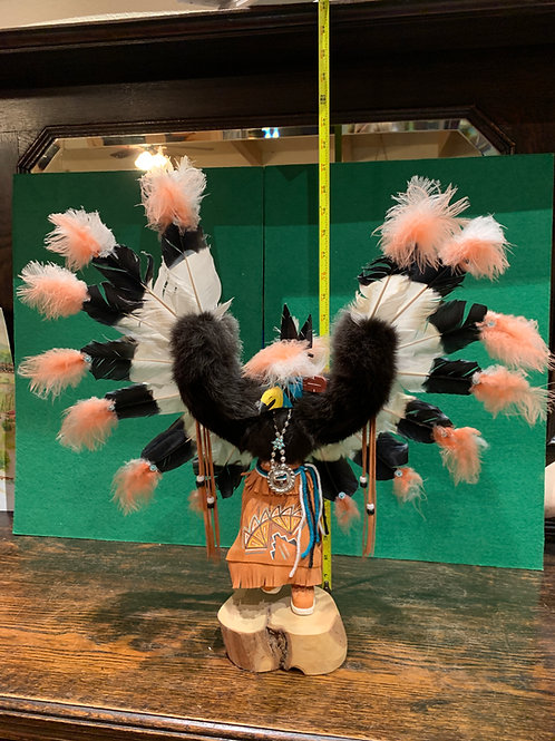 Vintage Kachina Eagle on Wood base