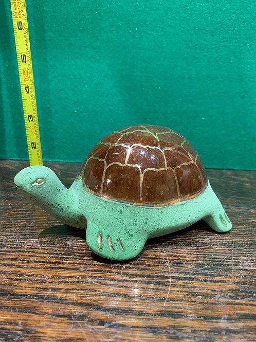 Turtle with Gold Shell