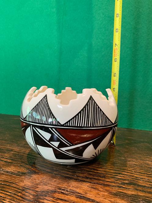 Glazed Old Laguna Pueblo Kiva Cut Bowl