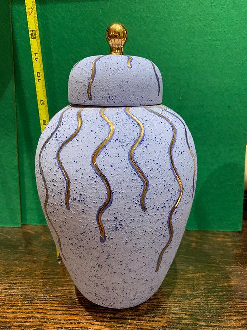 Ginger Vase with Ornate Lid