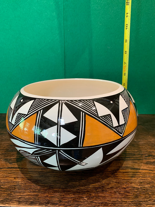 Glazed Old Laguna Pueblo Squash Bowl